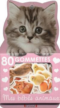 80 gommettes mes bébés animaux : chaton