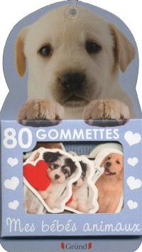 80 gommettes mes bébés animaux : chiot