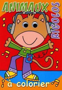 Animaux rigolos à colorier : singe