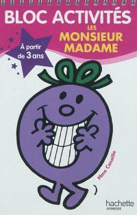 Bloc activités les Monsieur Madame : à partir de 3 ans