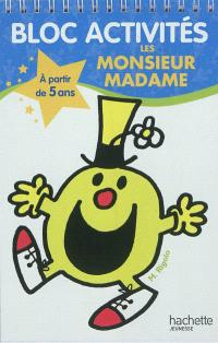 Bloc activités les Monsieur Madame : à partir de 5 ans