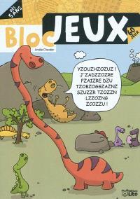 Bloc jeux dinosaures