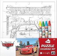 Cars : set puzzle à colorier