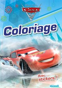 Cars 2 : coloriage : avec stickers !