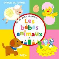 Colle et colorie : les bébés animaux
