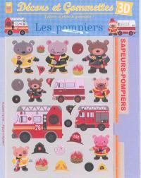 Décors et gommettes 3D : les pompiers