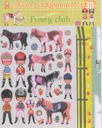 Décors et gommettes 3D : poney club