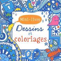 Dessins et coloriages : mini-livre : bleu