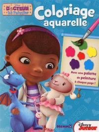 Docteur La Peluche : coloriage aquarelle