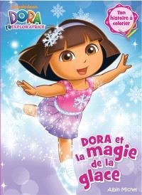 Dora et la magie de la glace : ton histoire à colorier