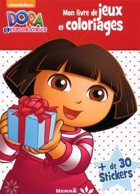 Dora l'exploratrice : mon livre de jeux et coloriages