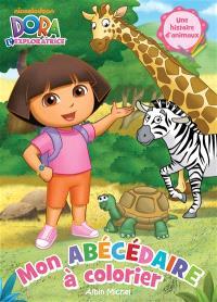 Dora l'exploratrice, mon abécédaire à colorier 1 : une histoire d'animaux