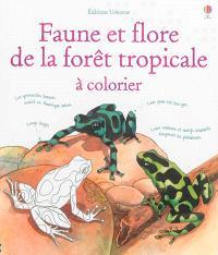 Faune et flore de la forêt tropicale : à colorier
