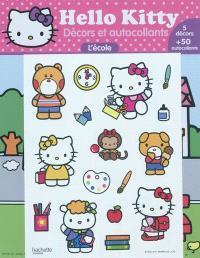 Hello Kitty : décors et autocollants : l'école