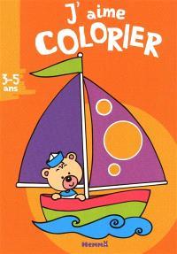 J'aime colorier, 3-5 ans : bateau
