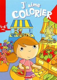 J'aime colorier, 4-6 ans : marché