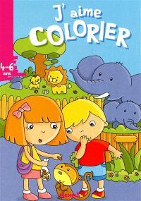 J'aime colorier, 4-6 ans : zoo