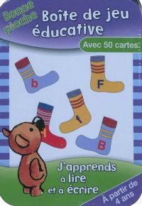 J'apprends à lire et à écrire : boîte de jeu éducative