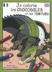 Je colorie les crocodiles et les tortues