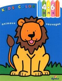 Kids color, 4-6 ans : animaux sauvages