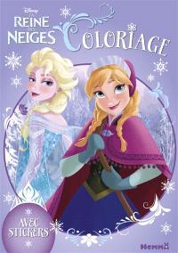 La reine des neiges : coloriage avec stickers
