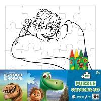 Le voyage d'Arlo : set puzzle à colorier
