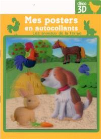 Les animaux de la ferme : mes posters en autocollants