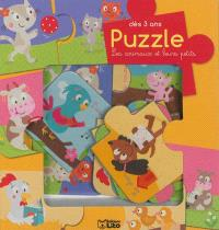 Les animaux et leurs petits : puzzle