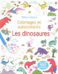 Les dinosaures : coloriages et autocollants