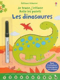 Les dinosaures : je trace, j'efface, relie les points