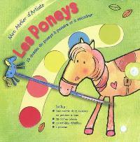 Les poneys : 10 dessins de poneys à peindre et à encadrer
