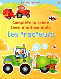 Les tracteurs : complète la scène, livre d'autocollants