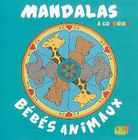 Mandalas à colorier : bébés animaux