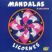 Mandalas à colorier : licornes