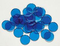 Maxi-jetons en plastique bleus