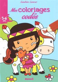 Mes coloriages codés, 5-6 ans : petite Indienne