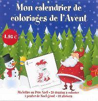 Mon calendrier de coloriages de l'Avent