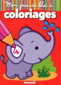 Mon premier bloc de coloriages : éléphant
