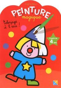 Peinture magique, c'est la fête ! : coloriage à l'eau ! : à partir de 4 ans