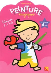 Peinture magique, petits copains : coloriage à l'eau ! : à partir de 4 ans