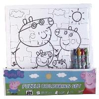 Peppa Pig : set puzzle à colorier