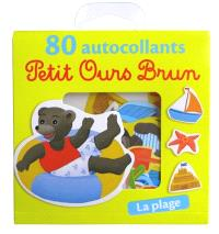 Petit ours brun : 80 autocollants : la plage