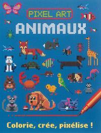 Pixel art : animaux : colorie, crée, pixélise !