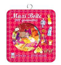 Princes et princesses : maxi boîte : 220 gommettes