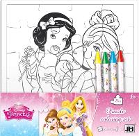 Princesses : set puzzle à colorier