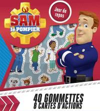Sam le pompier : jour de repos : 40 gommette, 8 cartes d'action
