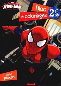 Ultimate Spider-Man : bloc de coloriages avec stickers