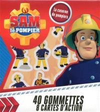 Sam le pompier : la casserne de pompiers : 40 gommettes, 8 cartes d'action