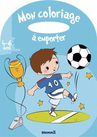 Mon coloriage à emporter, 4-6 ans : football