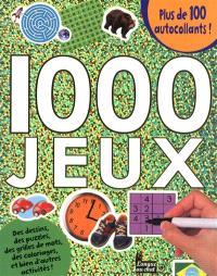 1.000 jeux : des dessins, des puzzles, des grilles de mots, des coloriages, et bien d'autres activités ! : plus de 100 autocollants